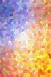 Useful abstract illustration of blue, yellow and red bright Small hexagon. Beautiful background for your project. Useful abstract illustration of blue, yellow Vector Illustration