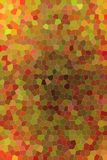 Useful abstract illustration of brown, red and green bright Small hexagon. Good background for your design. Useful abstract illustration of brown, red and green royalty free illustration