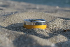 Useful accessory on the beach Royalty Free Stock Photography