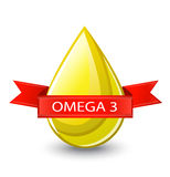 Useful acid omega 3 Stock Image