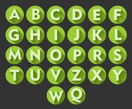 Useful alphabet icons. In green Royalty Free Stock Photography