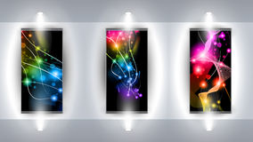 Useful Art Gallery with 3 artistic Background vector illustration