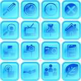 Useful button or icon set Royalty Free Stock Images