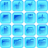 Useful button or icon set. For your website or android application Stock Image