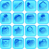 Useful button or icon set. For your website or android application Stock Photo