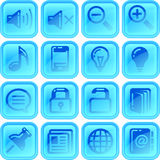 Useful button or icon set. For your website or android application Stock Photography