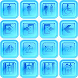 Useful button or icon set Stock Images