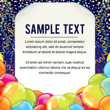 Useful Celebration Poster Template Royalty Free Stock Photo