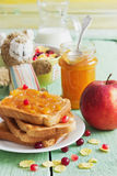 Useful for children breakfast Royalty Free Stock Photo