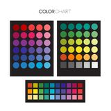 Useful color palette guide. Useful circle swatches color palette Royalty Free Stock Photo