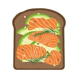 Breakfast with salmon and toast Royalty Free Stock Photo