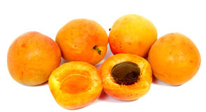 Useful dietary and vegetarian food. Large juicy peaches. Useful dietary and vegetarian food Royalty Free Stock Image
