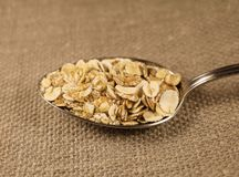 Useful flakes 4 cereals Stock Photography