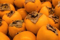 Useful food orange fruit persimmon Stock Photo