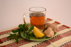 Useful ginger tea Stock Photos