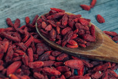 Useful goji berries Royalty Free Stock Image