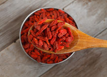 Useful goji berries Stock Photos