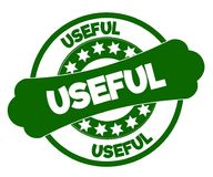 USEFUL green stamp. Illustration graphic concept image Stock Image