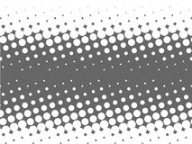 Useful halftone design element. With single color parallal angled gray dots Stock Photography