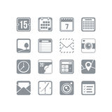 Useful icon set. A useful square icon set with a variety of icons for every occasion. EPS 10, no transparencies Royalty Free Stock Image