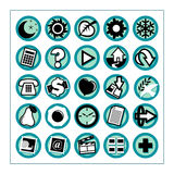 Useful Icons 1 - Version 1. Collection of 25 different useful icons #1 - Version 1 Stock Image