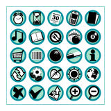 Useful Icons 2 - Version 1. Collection of 25 different useful icons #2 - Version 1. Please check other versions and sets Royalty Free Stock Photography
