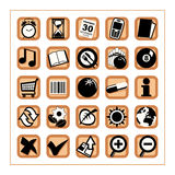 Useful Icons 2 - Version 2. Collection of 25 different useful icons #2 - Version 2 Royalty Free Stock Images