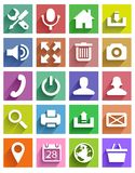 Useful icons Royalty Free Stock Photo