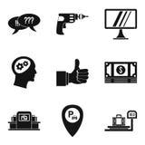 Useful idea icons set, simple style. Useful idea icons set. Simple set of 9 useful idea vector icons for web isolated on white background Royalty Free Stock Images