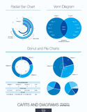 Useful infographic template. Set of graphic design elements Royalty Free Stock Images