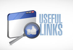 Useful links browser illustration design Royalty Free Stock Photography