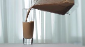 Useful milkshake. stock footage