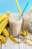 Useful oat smoothies royalty free stock photo