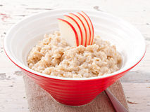 Useful oatmeal with apples Royalty Free Stock Photos