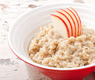 Useful oatmeal with apples Stock Images