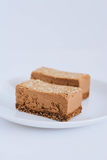 Useful raw chocolate dessert stock photos