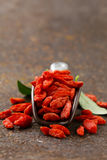 Useful red goji berries Royalty Free Stock Photo