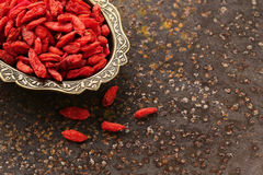 Useful red goji berries Stock Photography