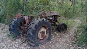 Useful for Snap. Old Tractor in the midst Stock Photo