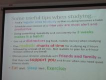 Useful study tips stock photos