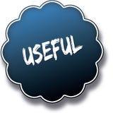 USEFUL text written on blue round label badge. Illustration Royalty Free Stock Photo