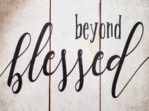 Useful tips beyond blessed print on the wood royalty free stock images