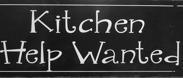 An useful tips kitch help wanted. Useful tips, kitchen help wanted royalty free stock images