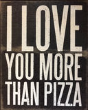 An useful tips about love. Useful tips ,I love you more than pizza Royalty Free Stock Photo