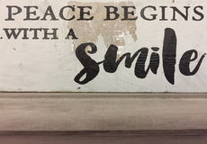 Useful tips about peace. Useful tips ,peace begins with a smile royalty free stock photography