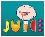 It is useful to drink fresh juice for your health. Stock Photography