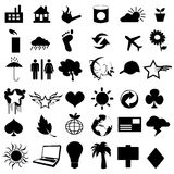 Useful vector pictograms Stock Image
