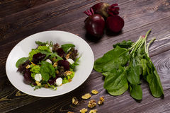 Useful vegetable salad. Royalty Free Stock Images