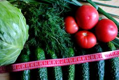 Useful vegetables for weight loss 2 Stock Images