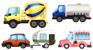 Useful vehicles vector illustration